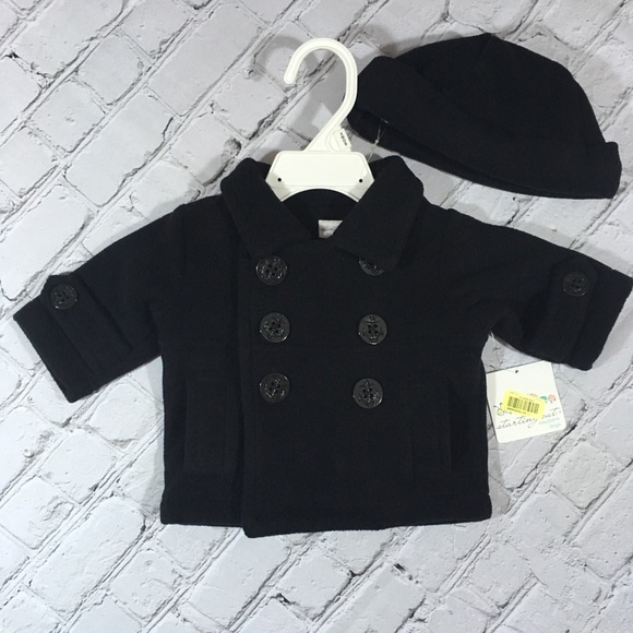 Starting Out Other - Starting Out NWT black fleece coat and hat